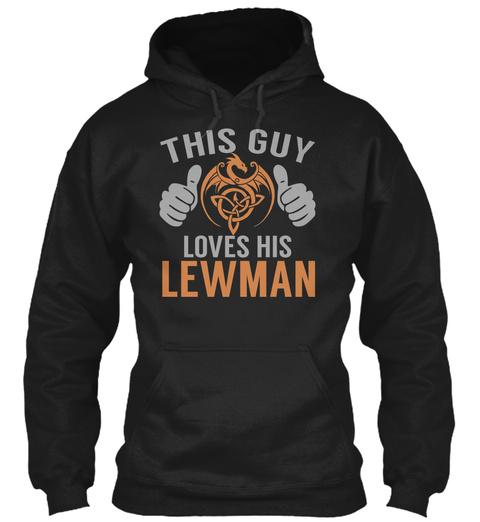 Lewman   Guy Name Shirts Black T-Shirt Front