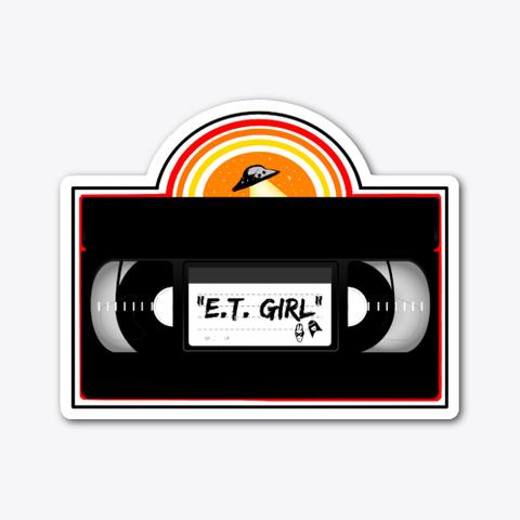 """E.T. Girl """"Ufo Vhs"""" Standard T-Shirt Front"""