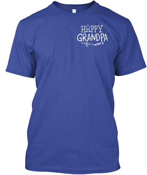 Happy Grandpa Deep Royal T-Shirt Front