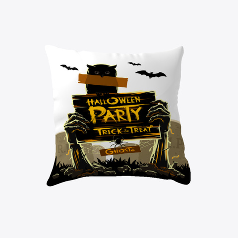 Halloween Pillow White T-Shirt Back
