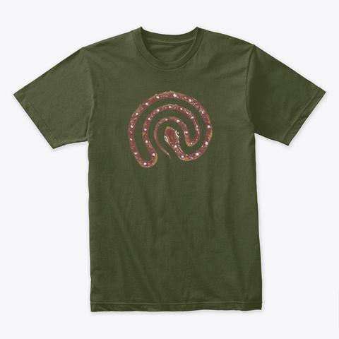 Didgeridoo Breath   Serpent Labyrinth  Military Green T-Shirt Front