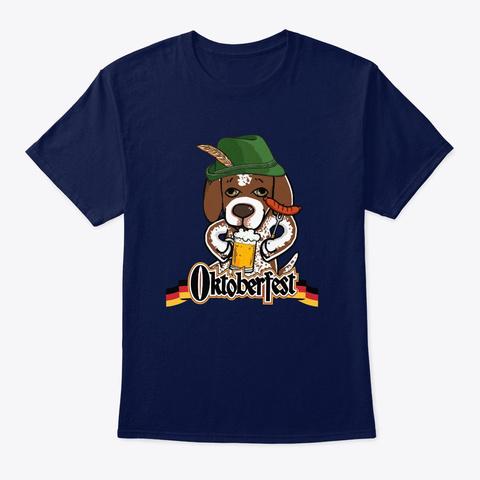Oktoberfest German Shorthaired Pointer Navy T-Shirt Front