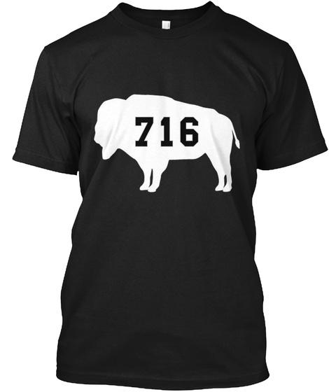 716 Black T-Shirt Front
