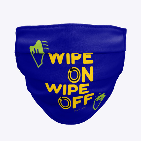 Wipe On Wipe Off Deep Navy T-Shirt Front