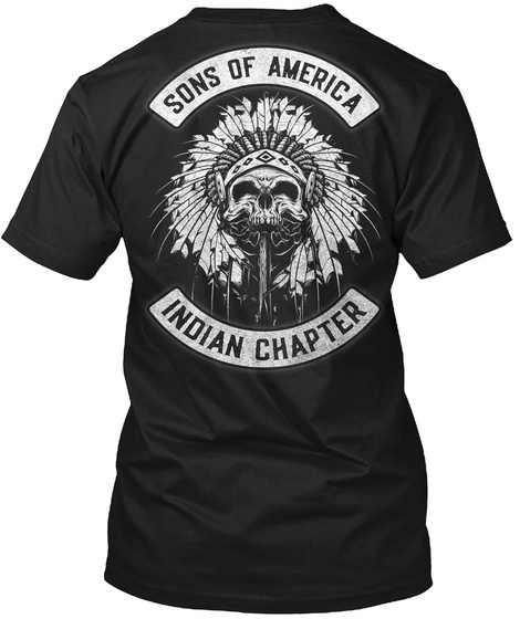 Sons Of America Indian Chapter Black T-Shirt Back