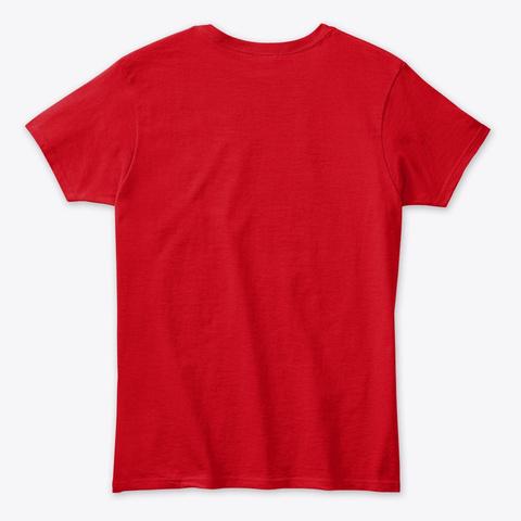 Let's Talk Black Lives Matter Red T-Shirt Back