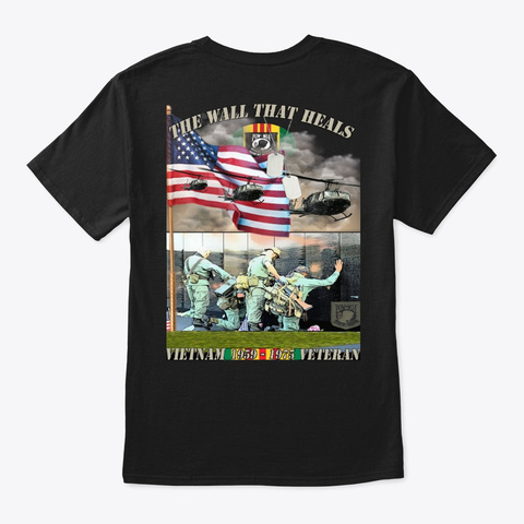 The Wall That Heals Rolling Thunder Black T-Shirt Back