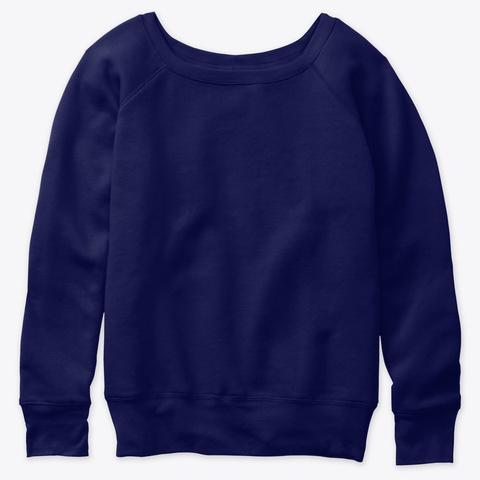 How Expert Women's Slouchy Sweater Navy  T-Shirt Front