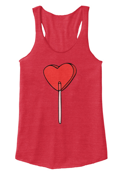 Valentine's Day Sucker Heart Eco True Red  T-Shirt Front