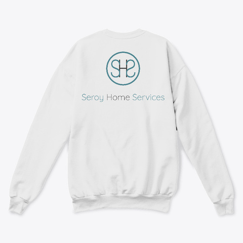 Seroy Home Services White  T-Shirt Back