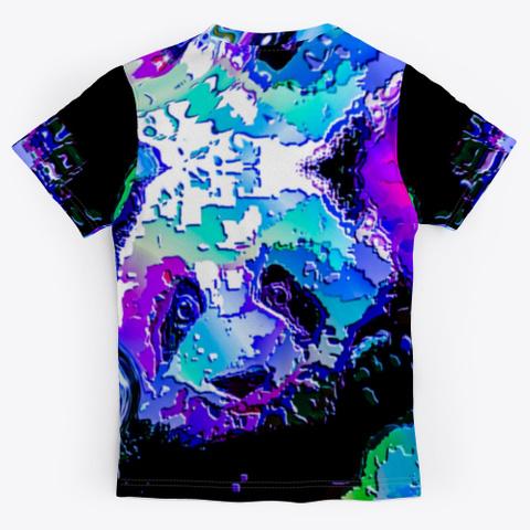 Bc Cat Panda7962 Black T-Shirt Back