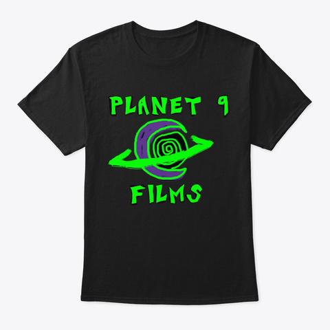 Planet 9 Films Black T-Shirt Front