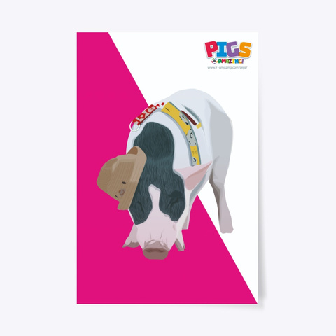 Pig In A Hat Poster Standard T-Shirt Front
