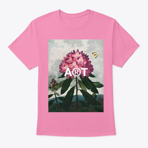 Rhododendron Still Life Vintage Flowers  Pink T-Shirt Front