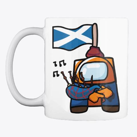 Scottish Bagpipes White T-Shirt Front