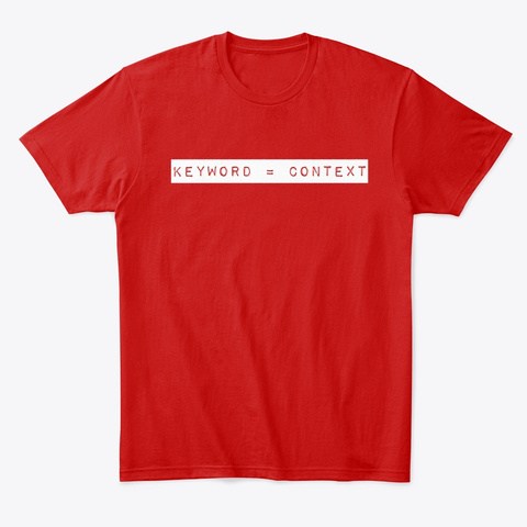 Keyword = Context Classic Red T-Shirt Front