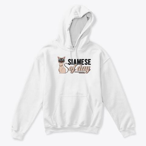 Siamese Of Day White Kaos Front