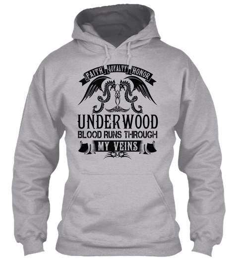 Underwood   My Veins Name Shirts Sport Grey T-Shirt Front