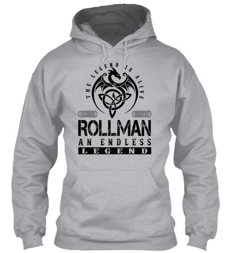 Rollman   Legends Alive Sport Grey T-Shirt Front