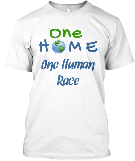 One Human Race White T-Shirt Front