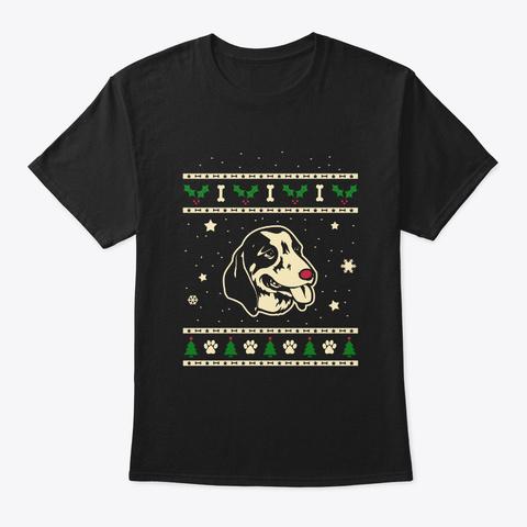 Xmas Anglo Francais Blanc Et Noir Gift Black T-Shirt Front
