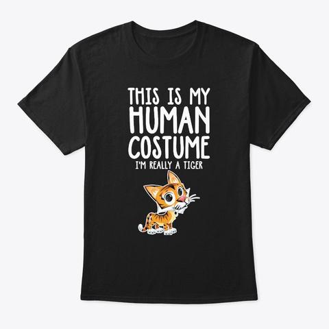 I'm A Tiger Halloween Costume Shirt Black T-Shirt Front