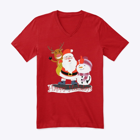 Happy Holidays Red T-Shirt Front