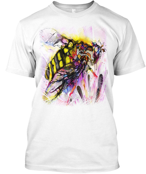 Save The Bee's White T-Shirt Front