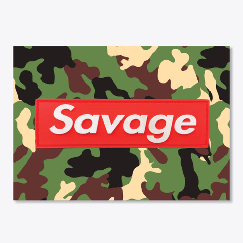 Savage Sticker White T-Shirt Front