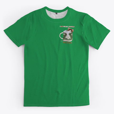 Kitten In A Coffee Cup Holiday Season Green T-Shirt Front