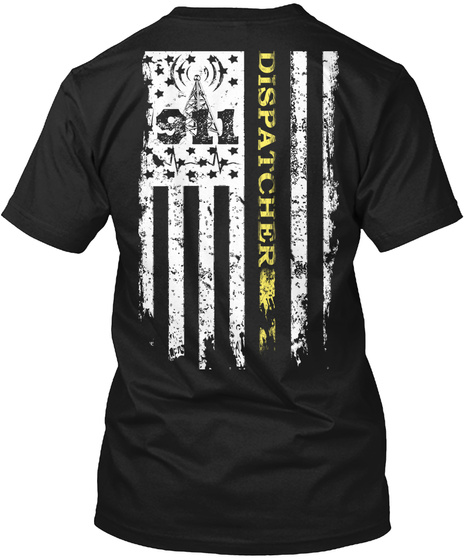 911 911 Dispatcher Black T-Shirt Back