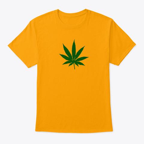 Hampunlehti Gold T-Shirt Front