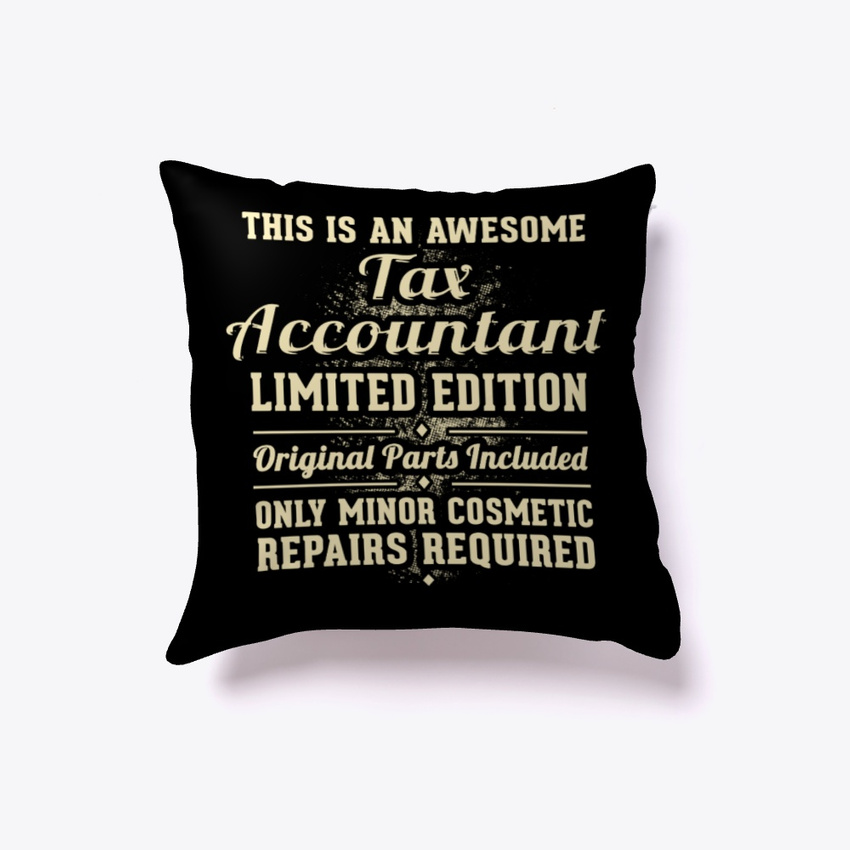 Tax Accountant Funny Gift Pillow