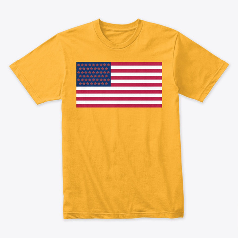 Ncr Flag Gold T-Shirt Front