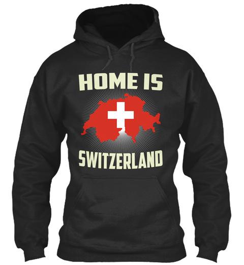 Home Is Switzerland Jet Black T-Shirt Front