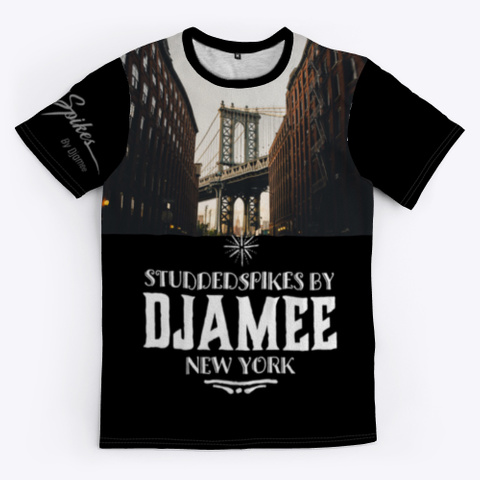 Djamee New York Style Black T-Shirt Front
