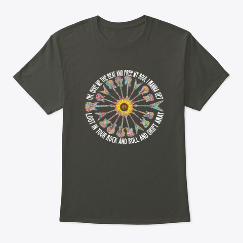 Give Me The Beat And Free My Soul Smoke Gray T-Shirt Front
