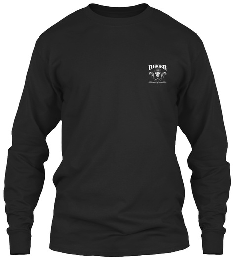Biker Black T-Shirt Front