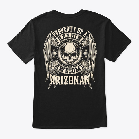 Awesome Arizonan Shirt Black T-Shirt Back