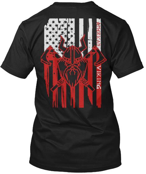 American Viking. Black T-Shirt Back
