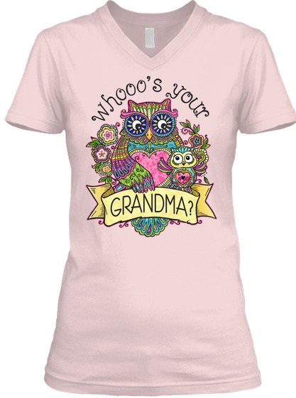 Whooo's Your Grandma? Pink T-Shirt Front