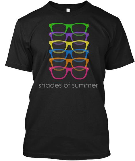 Shades Of Summer Shirt Black T-Shirt Front