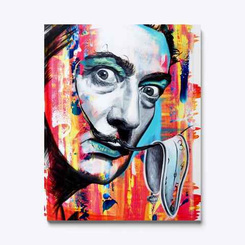Salvador Dali Modern Pop Art Painting Standard T-Shirt Front