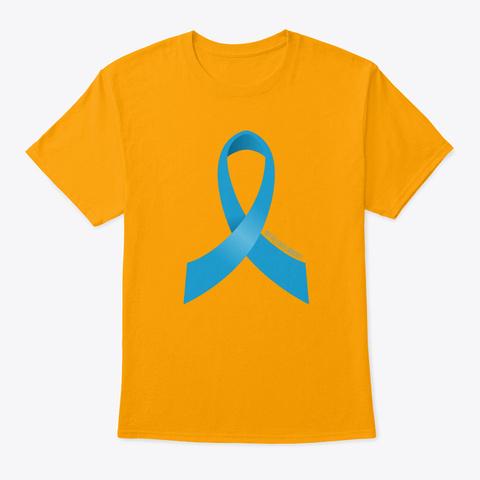Prostate Cancer Awareness Ribbon Gold T-Shirt Front