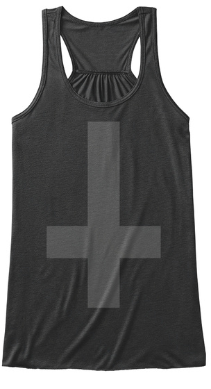 Inverted Cross Dark Grey Heather T-Shirt Front