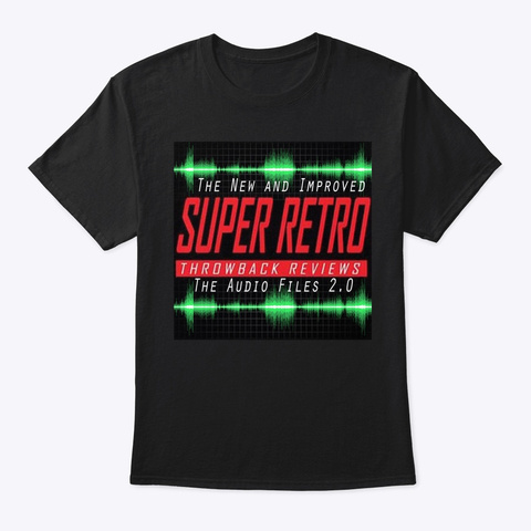 Super Retro Audio Podcast Loyal Fan Tee Black T-Shirt Front