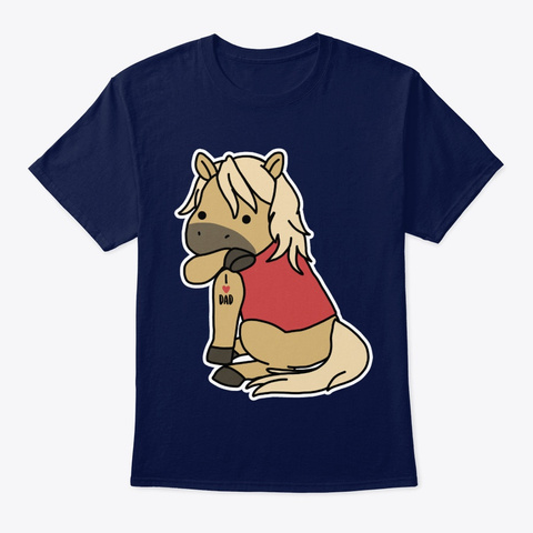 Horse I Love Dad Navy T-Shirt Front