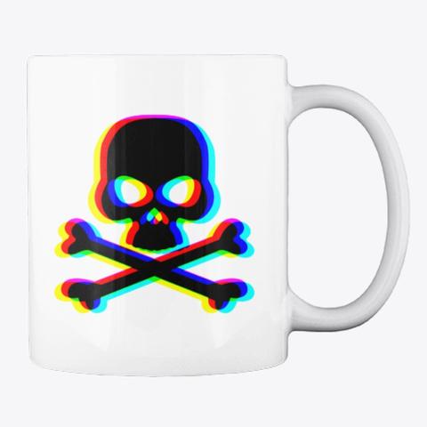 Skull And Cross Bones   Mug White T-Shirt Back