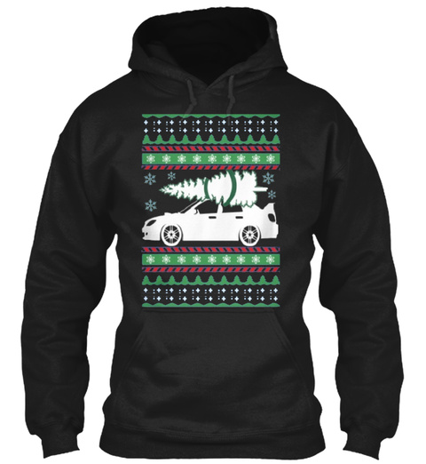 Subie Hawkeye Christmas Apparels   Black T-Shirt Front