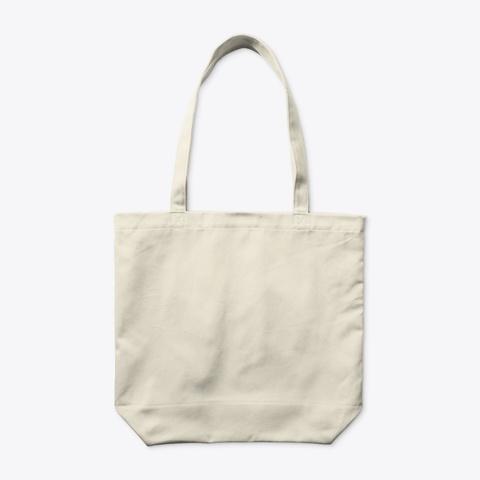 Organic Tote Bag Natural T-Shirt Back